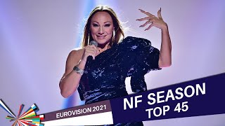 Eurovision 2021 NATIONAL FINALS   My Top 45 (21/02/2021)