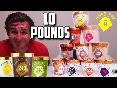 THE 10 PINT HALOTOP CHALLENGE!