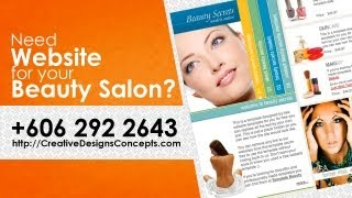 Beauty Salon Website Design Malacca | Malaysia Web Design | +60 6 2922643