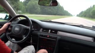 AUDI A6 c5 2.4 quattro ! Разгон 0 - 220 км.ч. Тест был на Газу !