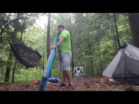 Fontana, NC Kayak Camping Trip - Camp Setup