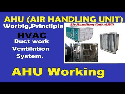 AHU (Air Handling Unit) In( हिन्दी) Hindi | Working principle and function.