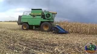 Уборка кукурузы 2018! ДОН-1500Б с жаткой КМС-8. Краснодарская 291 в условиях засухи.