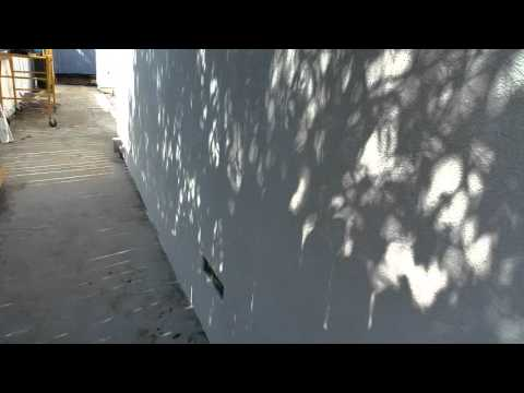 Stucco finish coat application by Shafan Construction in Los Angeles 818-485-2657