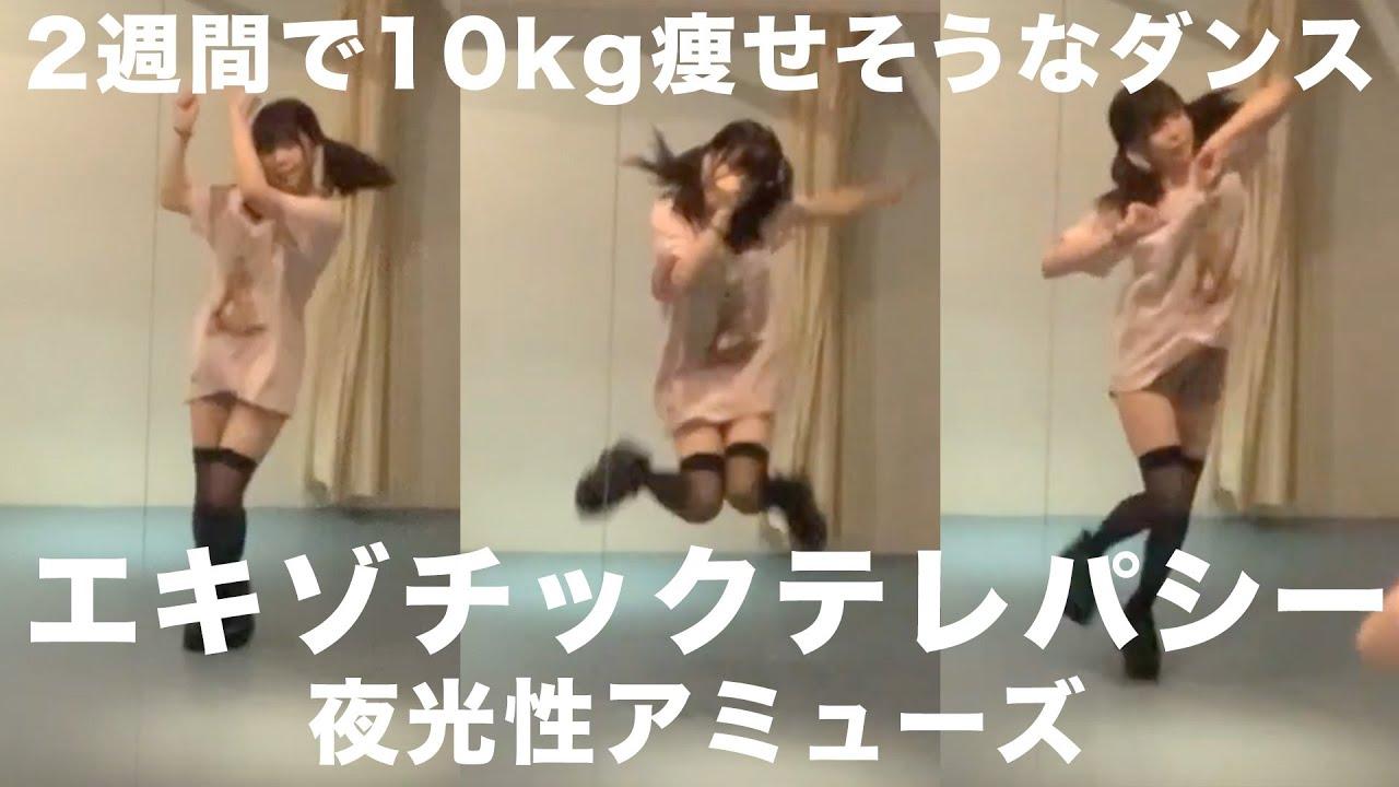 【ダイエット】2週間で10kg痩せそうなダンス30分間踊ってみた!!!【夜光性アミューズ】