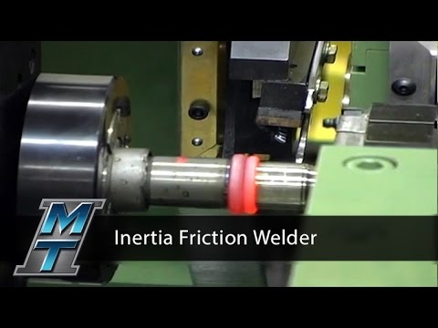 Inertia Friction Welder for Marine Engine Drive Shafts - Model 180B