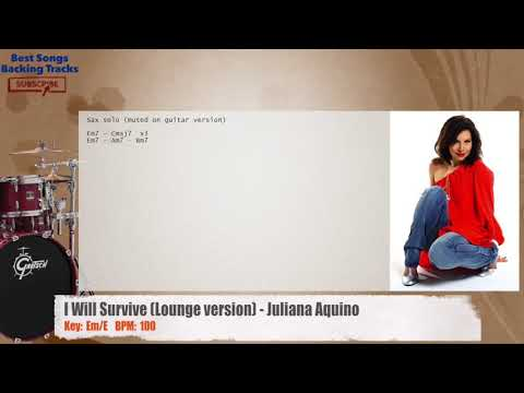 I Will Survive (Lounge version) - Juliana Aquino Drums Backing Track with chords and lyrics