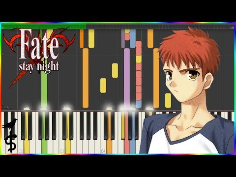 Fate/Stay Night OST - Kie nai Omoi (消えない想い) [Synthesia Tutorial]