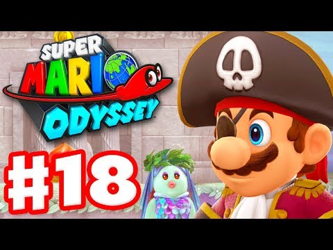 Super Mario Odyssey - Gameplay Walkthrough Part 18 - Pirate Mario of Lake Kingdom! (Nintendo Switch)