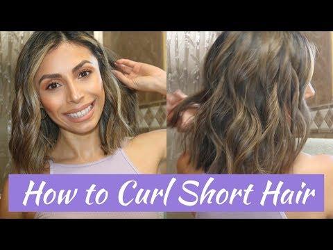 HOW TO CURL SHORT HAIR l EASY BEACH WAVES
