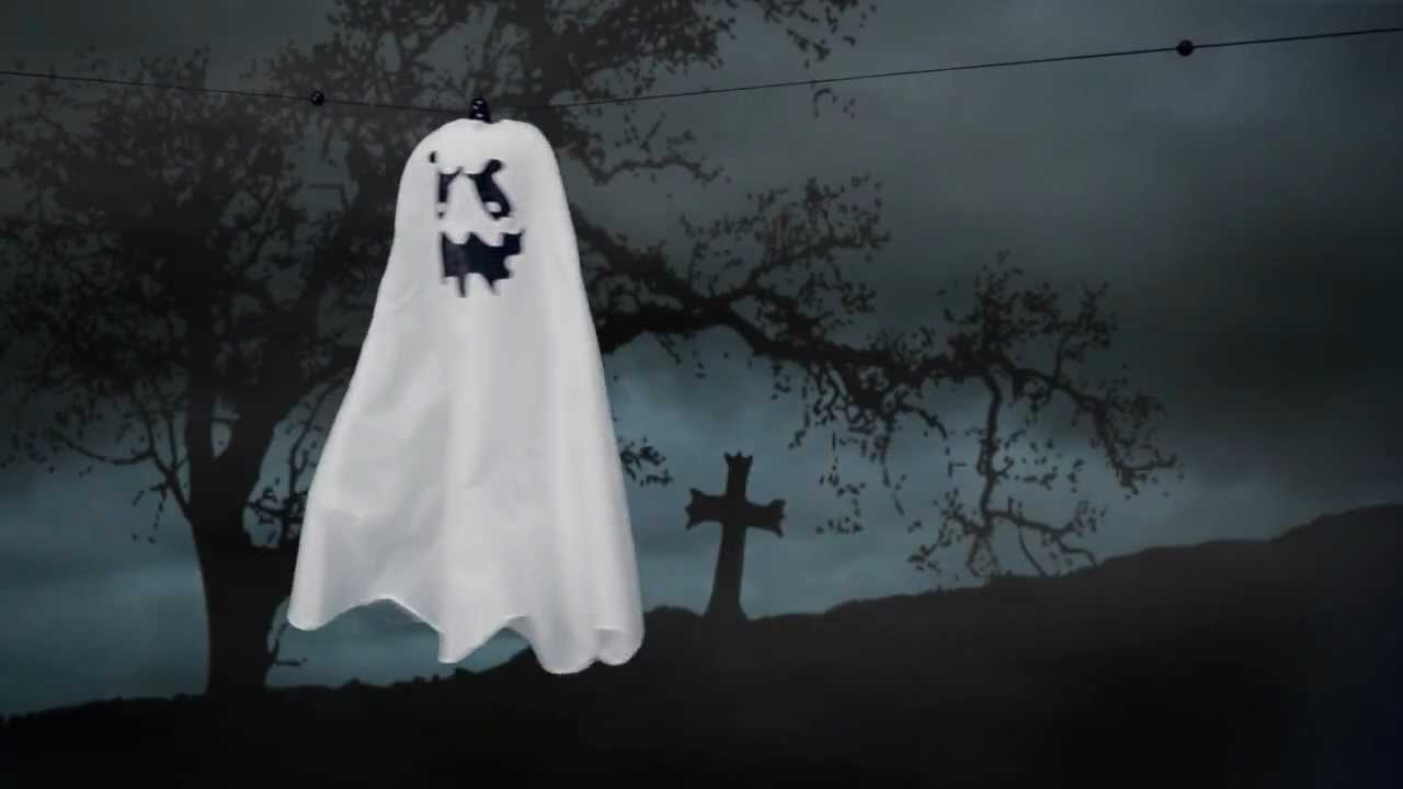 flying ghost - spirit halloween - youtube