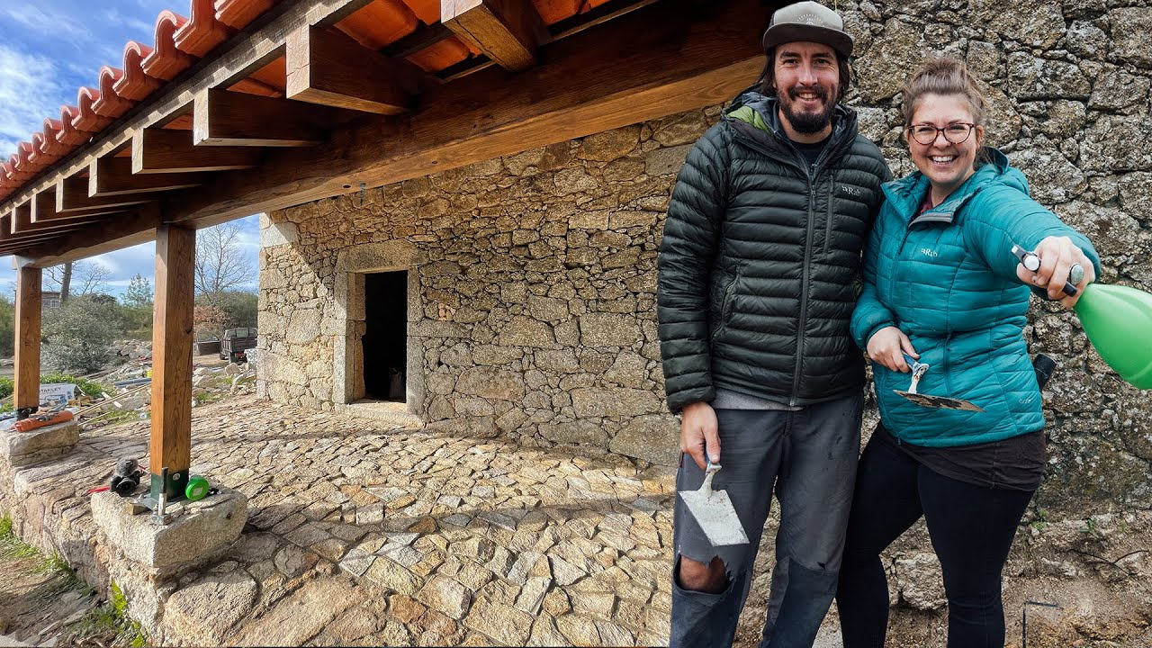 Building a Natural Stone Patio | Restoring an Abandoned Barn in Portugal