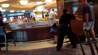 GUY TAKES A PUNCH ON CRUISE SHIP