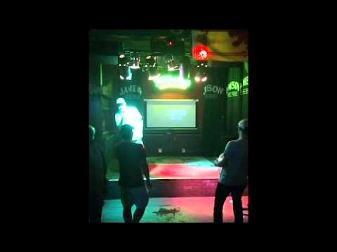 Guy singing Brittany Spears karaoke Boise, ID