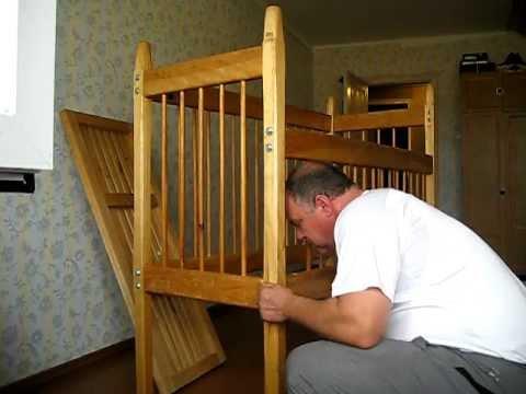Как собрать советскую детскую кроватку