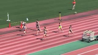 2013静岡県東部高校総体女子100m準決1~3