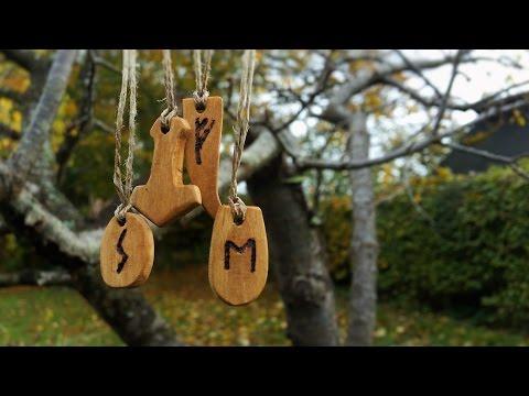 Woodworking - Viking Inspired Rune Pendants