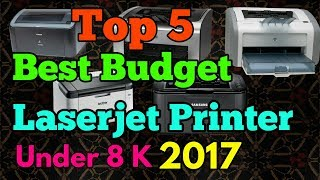 Best LaserJet Printer 2017   Under 8 Thousand   Top 5 Printers   Hindi