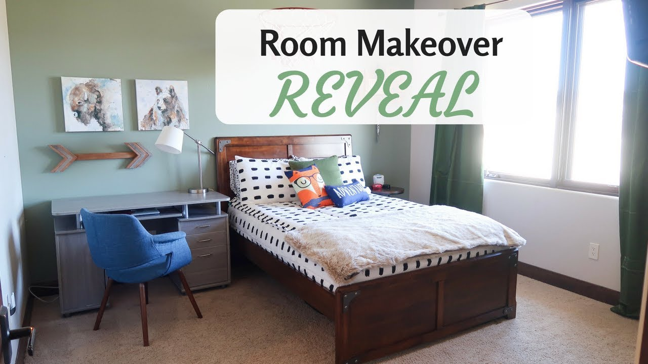 BOYS BEDROOM MAKEOVER   Room tour 2018 (Reveal)   YouTube