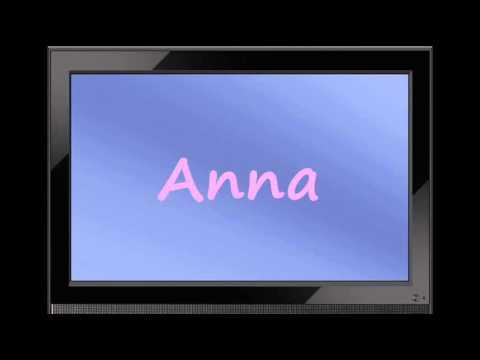 Anna - German Girl Name