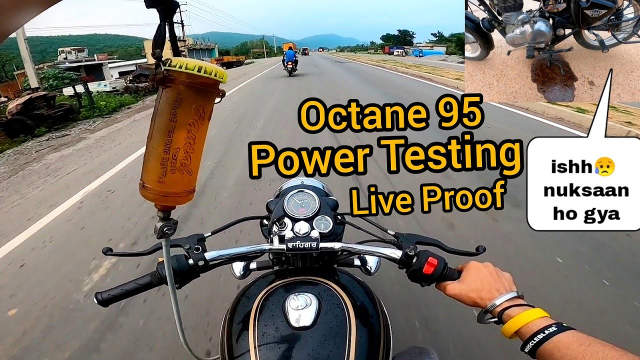Power Testing With Octane 95 || 😱😱 | Vibration Test || Single Spark plug ||  Top Speed Test ||