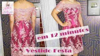 DIY – Vestido de Festa em 12 minutos + Molde – Curso de Corte e Costura – Passo a Passo