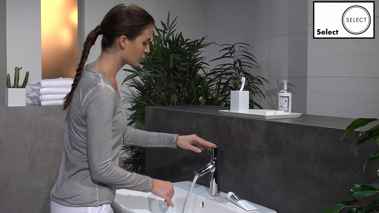 hansgrohe talis select s select basin mixer 100 72042000 youtube. Black Bedroom Furniture Sets. Home Design Ideas