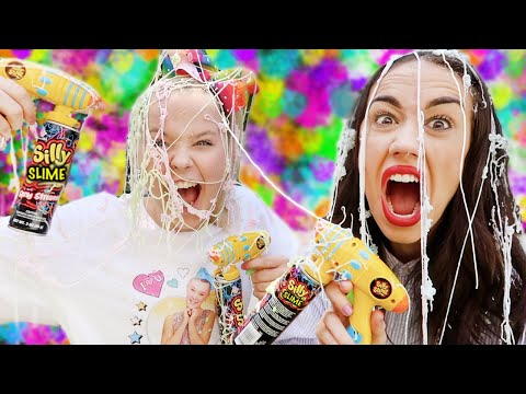 EPIC SILLY STRING FIGHT WITH MIRANDA SINGS!!
