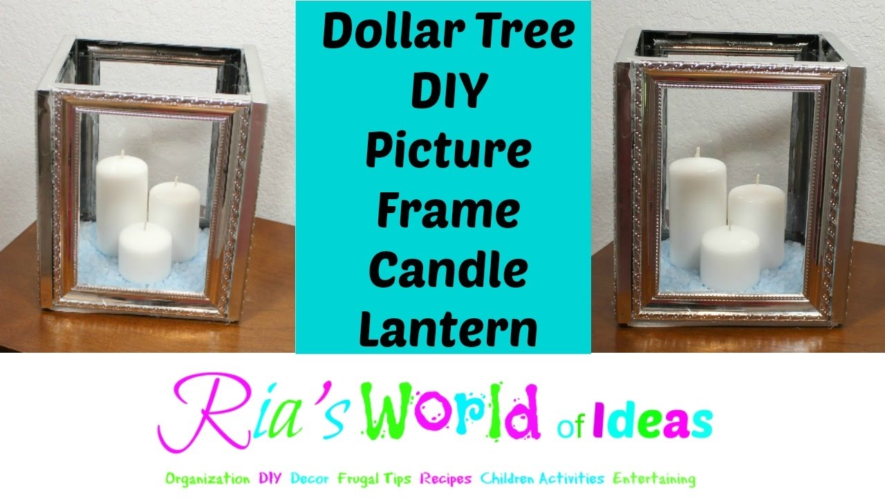 Dollar tree diy picture frame candle lantern youtube dollar tree diy picture frame candle lantern jeuxipadfo Image collections