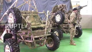 Russia: Ramzan Kadyrov test-drives new military buggy 'Chaborz M-3'