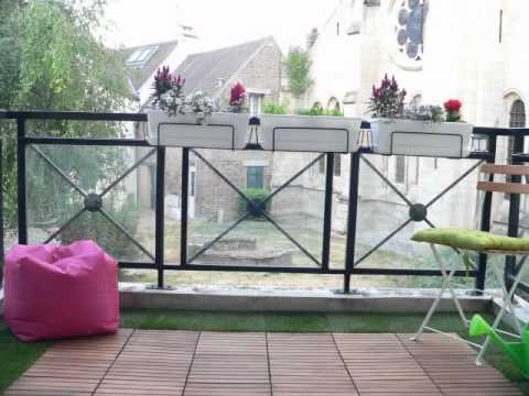 mmi deco r alise un balcon zen youtube. Black Bedroom Furniture Sets. Home Design Ideas