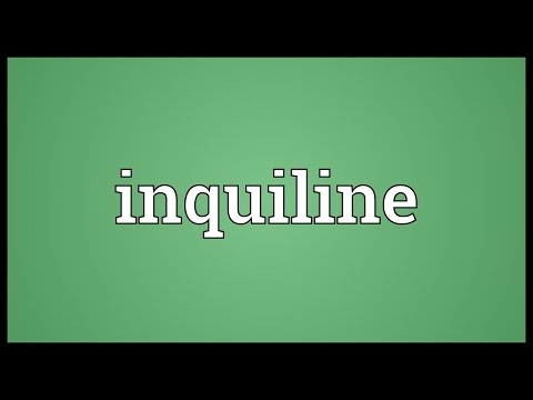Inquiline Meaning