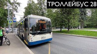 // Троллейбусы на маршруте 28. Московский троллейбус //