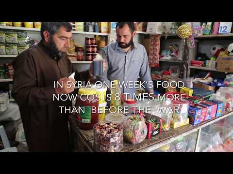 Food vouchers are helping families in need inside Syria