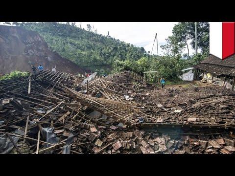 Landslide in Indonesia buries village, 2 dead, 26 more still missing - TomoNews