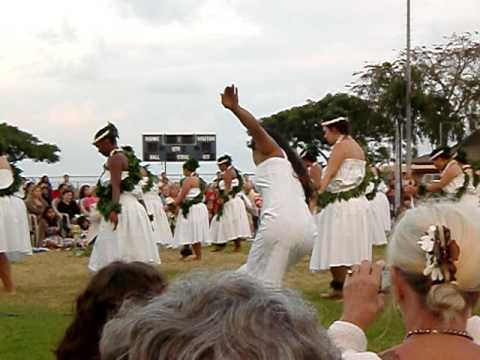 Easter sunrise service hula in Kailua Kona, Hawaii 2010