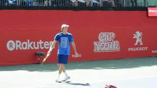 Stefanos Tsitsipas (GRE) practice session @rakuten japan open tennis 2017
