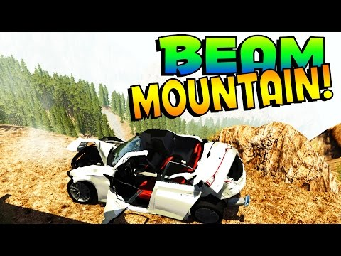 BeamNG - BEAM MOUNTAIN! GOOGLE SELF DRIVING CAR ATTEMPTS MURDER - BeamNG Drive Gameplay / Highlights