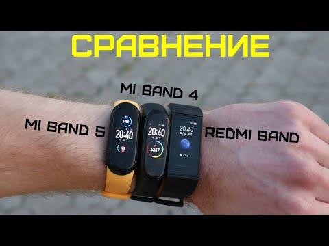 Сравнение: Mi Band 5 vs Mi Band 4 vs Redmi Band. Какой браслет от Xiaomi выбрать в 2020 году???