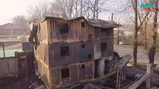 Последствия пожара в магазине «Дениз Текстиль»