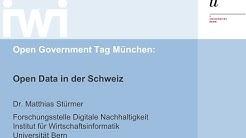 Dr. Matthias Stürmer: Open Data in der Schweiz