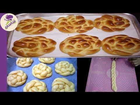خبز البريوش بالحليب قطنى وهش  للفطار مع كوبايه شاي بحليب تحفه مطبخ ساسي