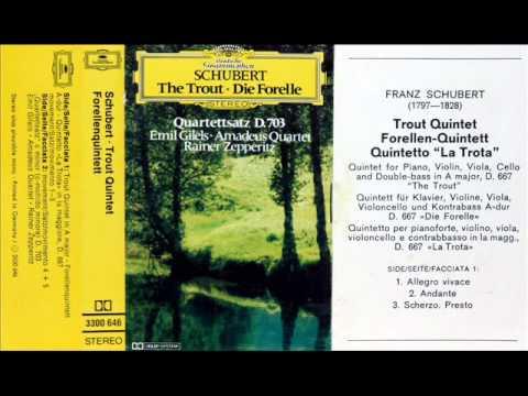 """Schubert / Emil Gilels / Amadeus Quartet, 1976: Piano Quintet in A major (""""Trout"""") - Complete"""