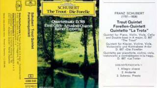 "Schubert / Emil Gilels / Amadeus Quartet, 1976: Piano Quintet in A major (""Trout"") - Complete"