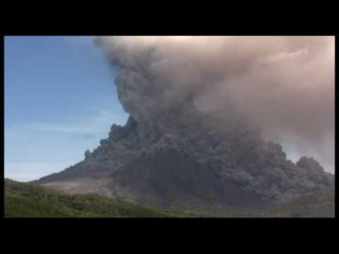 Montserrat eruption 11-02-10 Soufrière Hills