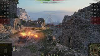 AMX 12t тащит бой с низов (бой с 8 уровнем)