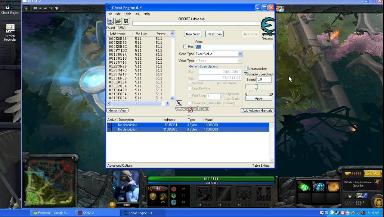 tutorial hack dota 2 with cheat engine 6 4 youtube