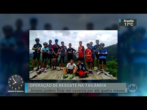 Resgate de jogadores encontrados em caverna na Tailândia será um desafio | SBT Brasil (03/07/18)
