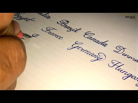 Beautiful english handwriting styles | Names of Countries | English handwriting cursive styles