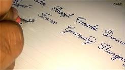 Beautiful Calligraphy cursive handwriting | Names of Countries | English Cursive Handwriting